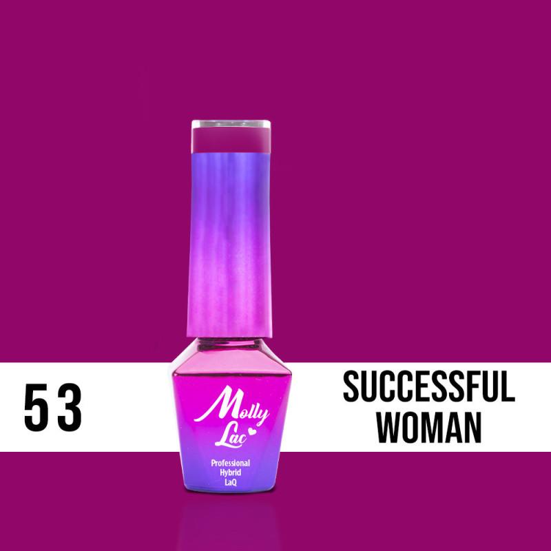 53. MOLLY LAC gél lak - Successful woman 5ML NechtovyRAJ.sk - Daj svojim nechtom všetko, čo potrebujú