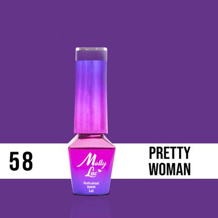 58. MOLLY LAC gél lak - Pretty Woman 5ML NechtovyRAJ.sk - Daj svojim nechtom všetko, čo potrebujú
