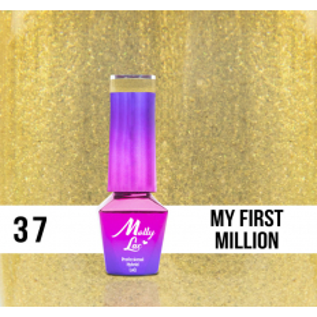 37. MOLLY LAC gél lak - My First Million 5ML NechtovyRAJ.sk - Daj svojim nechtom všetko, čo potrebujú