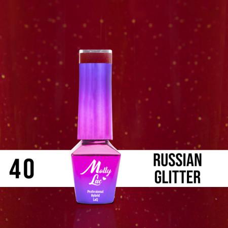 40. MOLLY LAC gél lak - Rusian Glitter 5ML