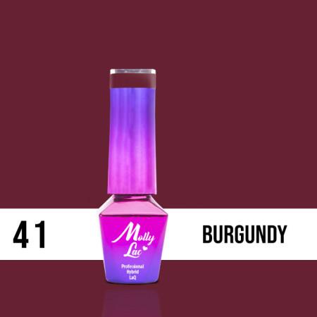 41. MOLLY LAC gél lak - Burgundy 5ML NechtovyRAJ.sk - Daj svojim nechtom všetko, čo potrebujú