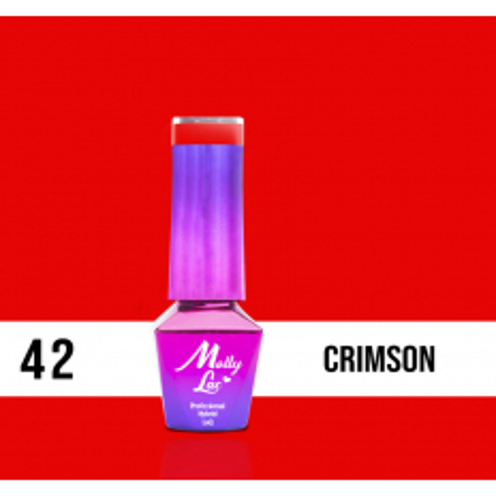 42. MOLLY LAC gél lak - Crimson 5ML NechtovyRAJ.sk - Daj svojim nechtom všetko, čo potrebujú