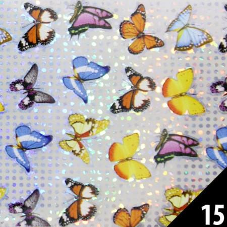 Transfér zdobiaca fólia 15 motýle 100 cm NechtovyRAJ.sk - Daj svojim nechtom všetko, čo potrebujú