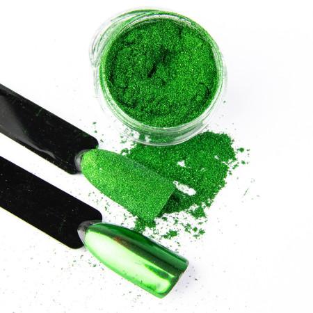 Pigmentový prášok Glass Green NechtovyRAJ.sk - Daj svojim nechtom všetko, čo potrebujú