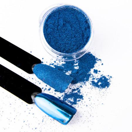 Pigmentový prášok Glass Blue NechtovyRAJ.sk - Daj svojim nechtom všetko, čo potrebujú