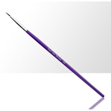 Štetec na zdobenie fialový 6 mm 000 NechtovyRAJ.sk - Daj svojim nechtom všetko, čo potrebujú