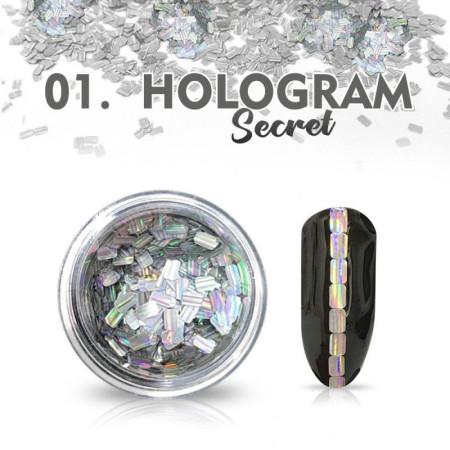 Hologram Secret 01 - strieborné NechtovyRAJ.sk - Daj svojim nechtom všetko, čo potrebujú