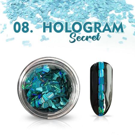 Hologram Secret 08 - tyrkysové NechtovyRAJ.sk - Daj svojim nechtom všetko, čo potrebujú