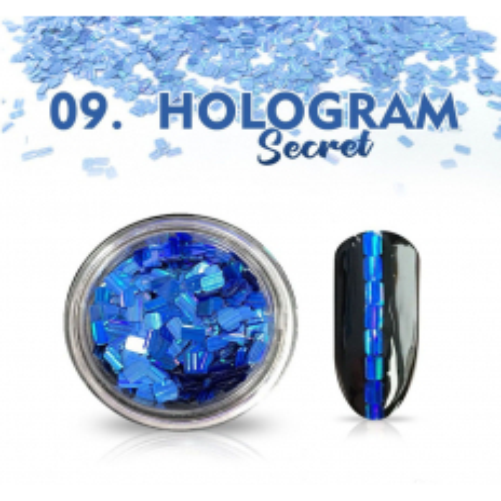 Hologram Secret 09 - modré NechtovyRAJ.sk - Daj svojim nechtom všetko, čo potrebujú
