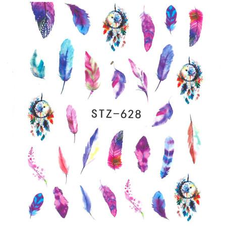 Vodonálepky na nechty pierka STZ-628 NechtovyRAJ.sk - Daj svojim nechtom všetko, čo potrebujú