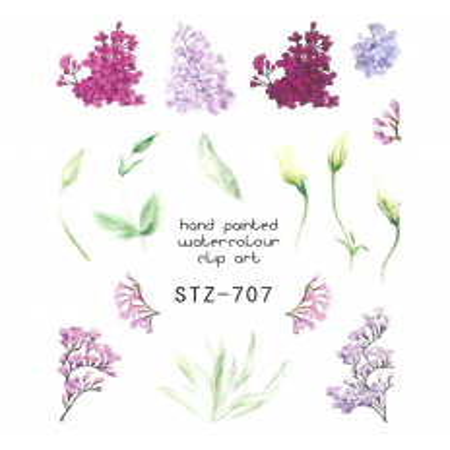 Vodonálepky na nechty motív kvety STZ-707 NechtovyRAJ.sk - Daj svojim nechtom všetko, čo potrebujú