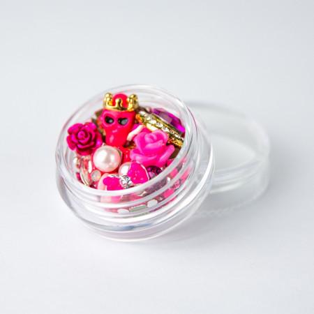 Ozdoby na nechty mix 10 - ružové NechtovyRAJ.sk - Daj svojim nechtom všetko, čo potrebujú