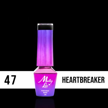 47. MOLLY LAC gél lak - Heartbreaker 5ML NechtovyRAJ.sk - Daj svojim nechtom všetko, čo potrebujú