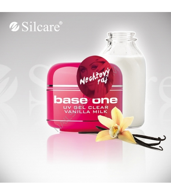 Base one UV gél Clear 15g - Vanilla milk