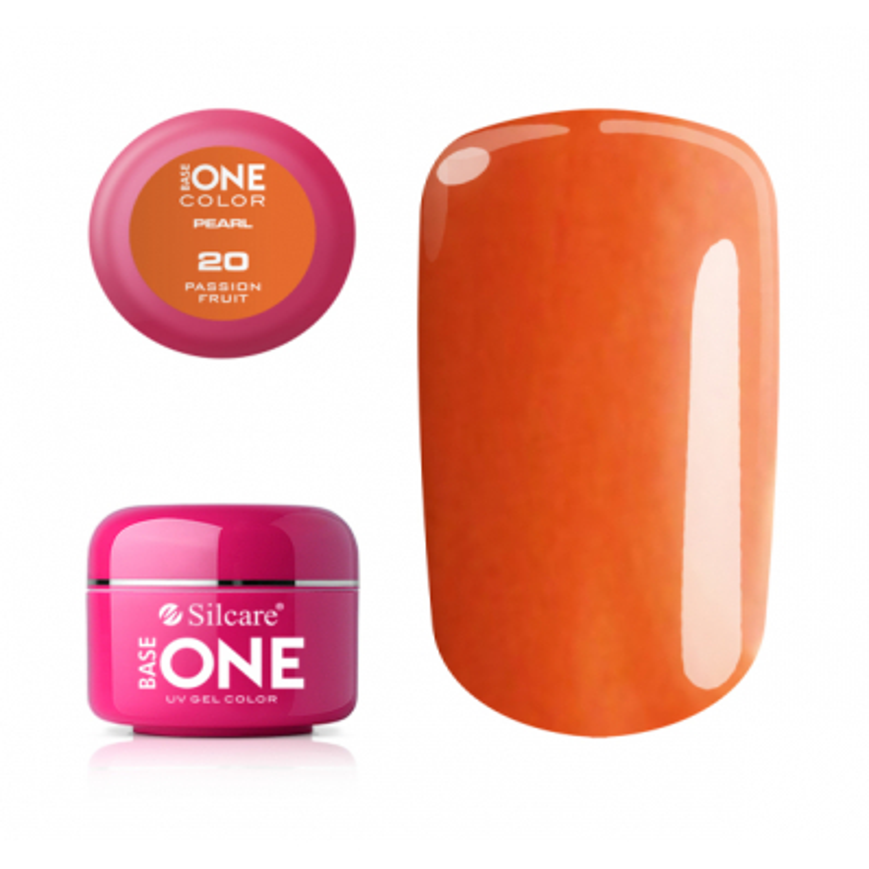 Perleťový uv gél 20 Passion fruit 5g Oranžová