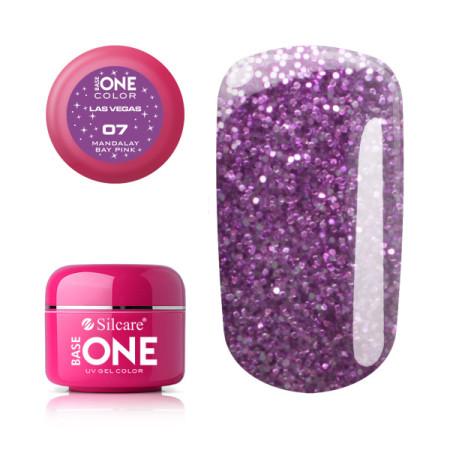 Glitrový UV gél Base one Las Vegas 07 - Mandala Bay Pink NechtovyRAJ.sk - Daj svojim nechtom všetko, čo potrebujú
