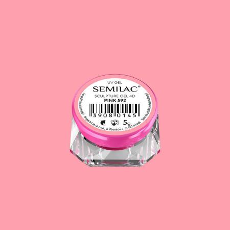 Semilac sculpture UV gél 4D Pink 5 g NechtovyRAJ.sk - Daj svojim nechtom všetko, čo potrebujú