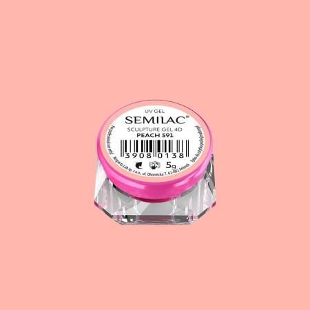 Semilac sculpture UV gél 4D Peach 5 g NechtovyRAJ.sk - Daj svojim nechtom všetko, čo potrebujú