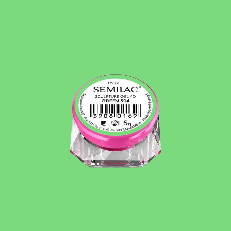 Semilac sculpture UV gél 4D Green 5 g NechtovyRAJ.sk - Daj svojim nechtom všetko, čo potrebujú