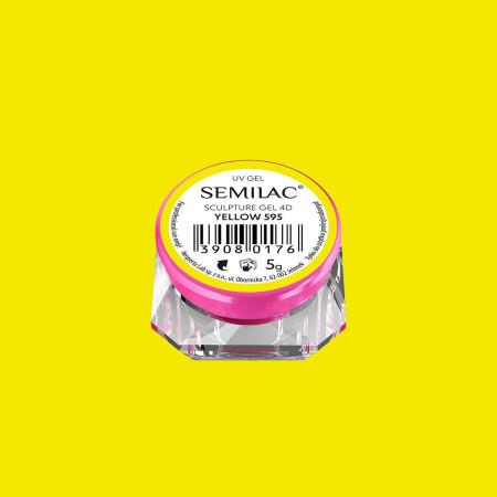 Semilac sculpture UV gél 4D Yellow 5 g