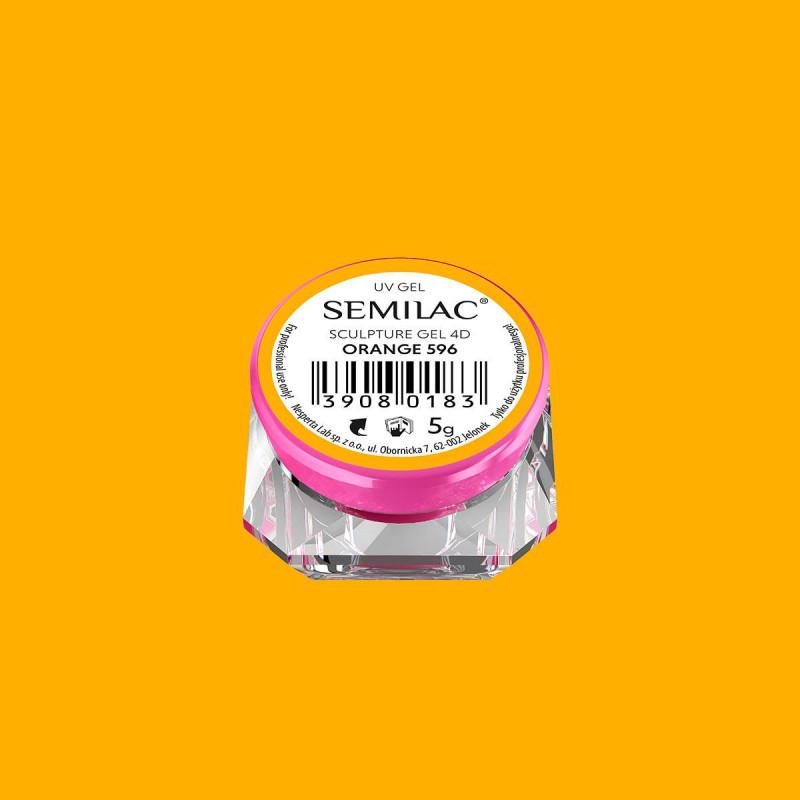 Semilac sculpture UV gél 4D Orange 5 g NechtovyRAJ.sk - Daj svojim nechtom všetko, čo potrebujú