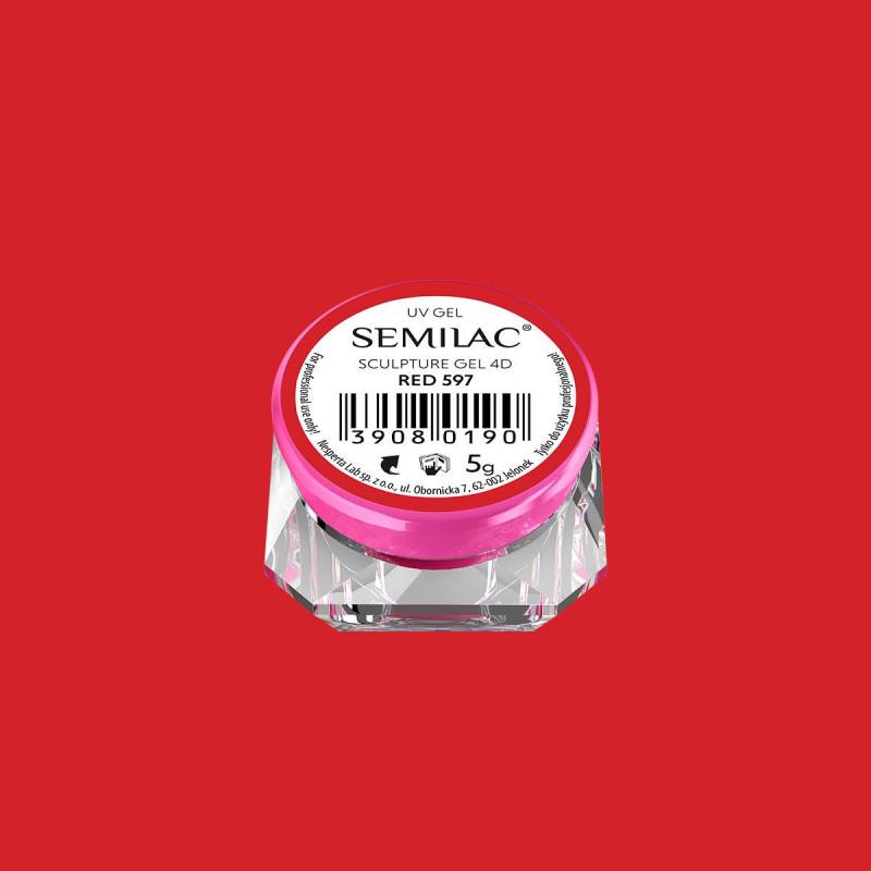 Semilac sculpture UV gél 4D Red 5 g NechtovyRAJ.sk - Daj svojim nechtom všetko, čo potrebujú