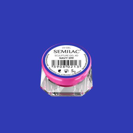 Semilac sculpture UV gél 4D Navy 5 g