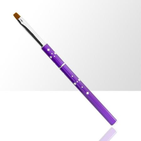 NechtovyRAJ štetec na gél č.6 fialový s kamienkami - skladací NechtovyRAJ.sk - Daj svojim nechtom všetko, čo potrebujú