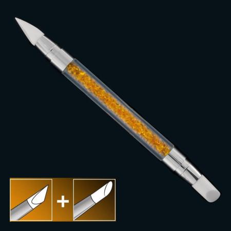 Silíkonový štetec na modeláciu a zdobenie oranžový 05 NechtovyRAJ.sk - Daj svojim nechtom všetko, čo potrebujú