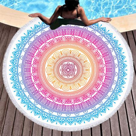 Plážová osuška - motív mandala 30 NechtovyRAJ.sk - Daj svojim nechtom všetko, čo potrebujú