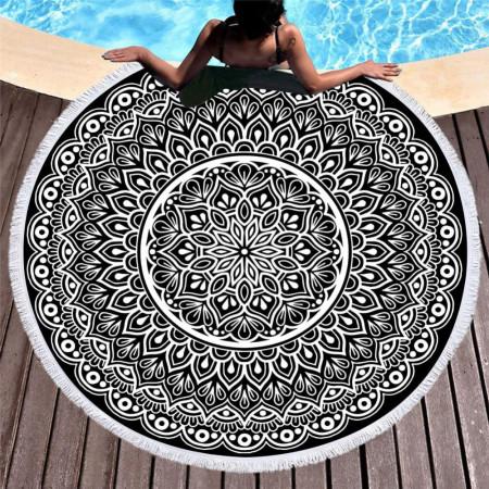 Plážová osuška - motív mandala 10 NechtovyRAJ.sk - Daj svojim nechtom všetko, čo potrebujú
