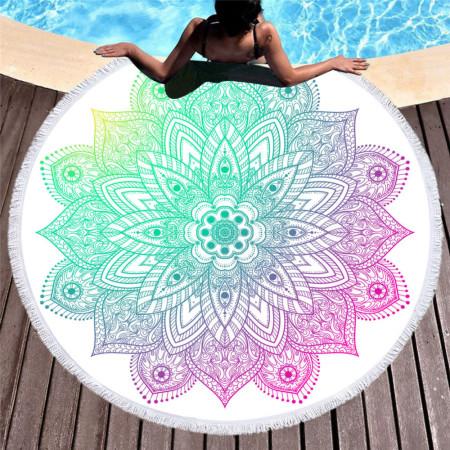 Plážová osuška - motív mandala 18 NechtovyRAJ.sk - Daj svojim nechtom všetko, čo potrebujú