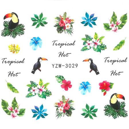 Vodonálepky s motívom Tukan YZW-3029 NechtovyRAJ.sk - Daj svojim nechtom všetko, čo potrebujú