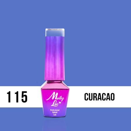 115. MOLLY LAC gél lak - Curacao 5ML