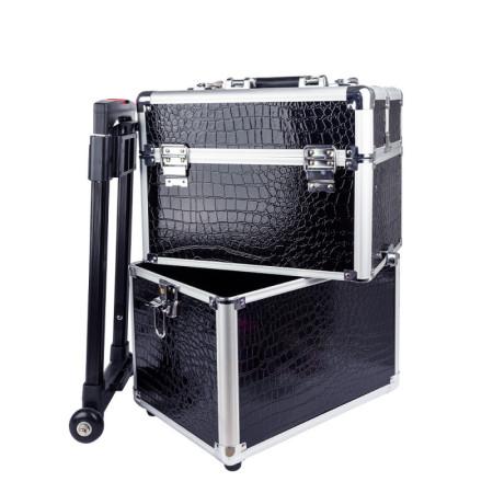 Kozmetický kufrík 7009 čierny krokodíl - XXL NechtovyRAJ.sk - Daj svojim nechtom všetko, čo potrebujú