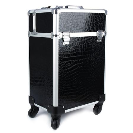 Kozmetický kufrík 4005 čierny krokodíl - XXL NechtovyRAJ.sk - Daj svojim nechtom všetko, čo potrebujú