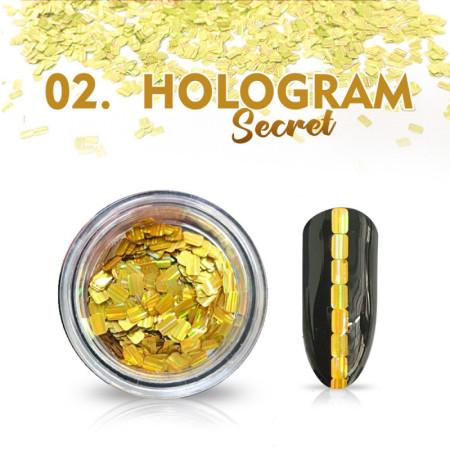Hologram Secret 02 - zlaté NechtovyRAJ.sk - Daj svojim nechtom všetko, čo potrebujú