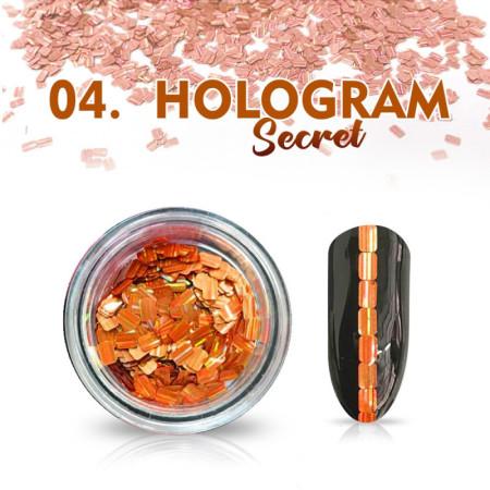 Hologram Secret 04 - medené NechtovyRAJ.sk - Daj svojim nechtom všetko, čo potrebujú