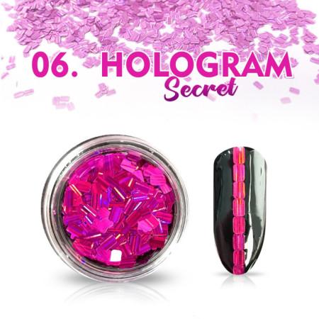 Hologram Secret 06 - ružové NechtovyRAJ.sk - Daj svojim nechtom všetko, čo potrebujú