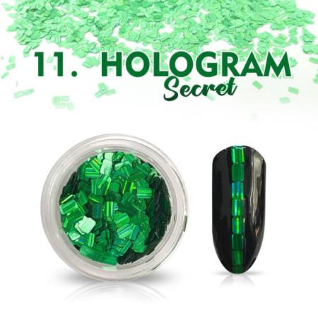 Hologram Secret 11 - zelené NechtovyRAJ.sk - Daj svojim nechtom všetko, čo potrebujú