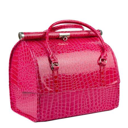 Luxusný kozmetický kufrík - ružový krokodíl 12 NechtovyRAJ.sk - Daj svojim nechtom všetko, čo potrebujú