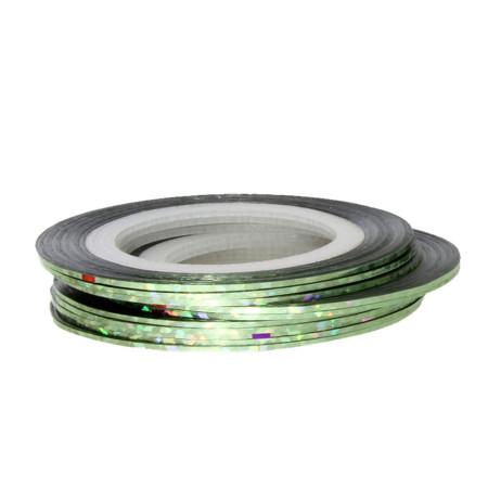 Zdobiaci pásik 40 - zelená holografická NechtovyRAJ.sk - Daj svojim nechtom všetko, čo potrebujú