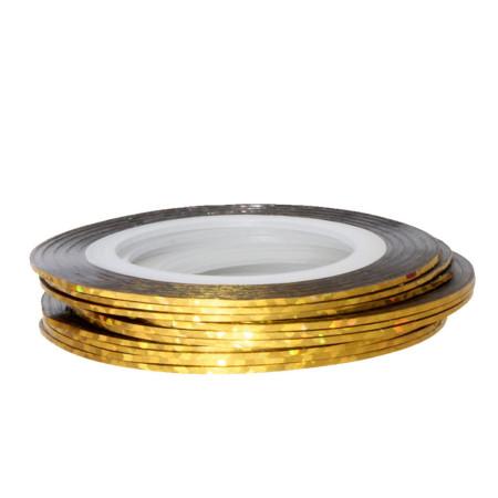 Zdobiaci pásik 31 - zlatá holografická NechtovyRAJ.sk - Daj svojim nechtom všetko, čo potrebujú