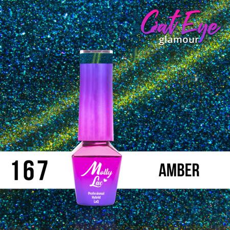167. MOLLY LAC gél lak - Cat Eye Fairy Glamour Amber 5ml NechtovyRAJ.sk - Daj svojim nechtom všetko, čo potrebujú