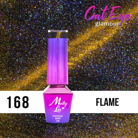 168. MOLLY LAC gél lak - Cat Eye Glamour Flame 5ml NechtovyRAJ.sk - Daj svojim nechtom všetko, čo potrebujú