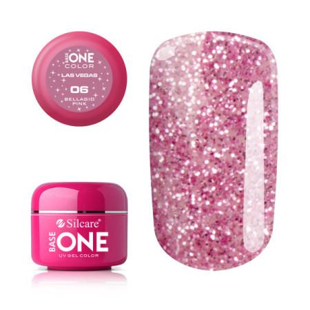 Glitrový UV gél Base one Las Vegas 06 - Bellagio pink NechtovyRAJ.sk - Daj svojim nechtom všetko, čo potrebujú