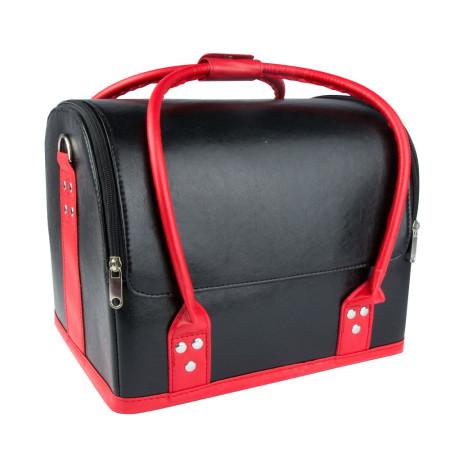 Luxusný kozmetický kufrík - čierny s červenou rúčkou 01 NechtovyRAJ.sk - Daj svojim nechtom všetko, čo potrebujú
