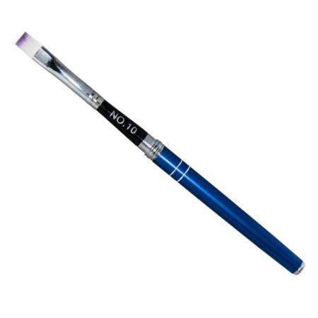 NechtovyRAJ Štetec na gél skladací č.10 modrý metalický NechtovyRAJ.sk - Daj svojim nechtom všetko, čo potrebujú