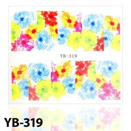 Vodonálepky na nechty kvietky YB-319 NechtovyRAJ.sk - Daj svojim nechtom všetko, čo potrebujú