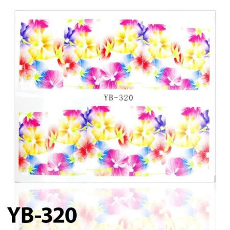 Vodonálepky na nechty kvietky YB-320 NechtovyRAJ.sk - Daj svojim nechtom všetko, čo potrebujú